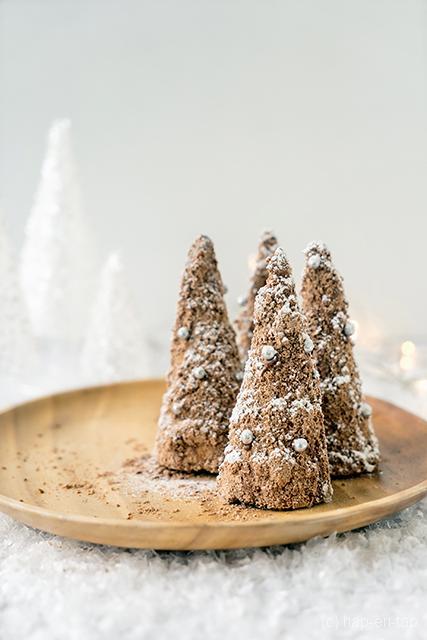 No bake kerstboompjes met chocolade