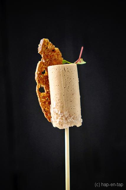 Lolly met mousse van foie gras