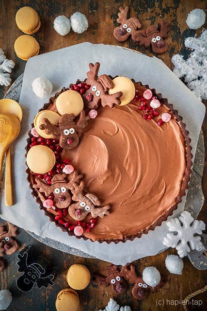 Rudolf chocoladetaart met speculaaskruiden en veenbessen
