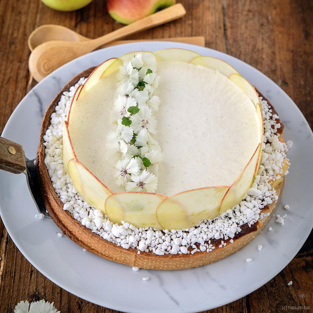 Appelmousse taart met frangipanevulling
