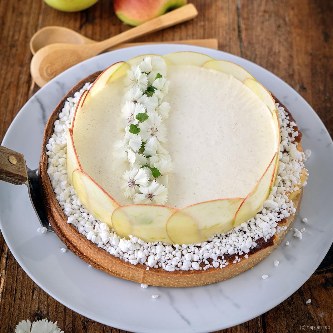 Appelmousse taart met frangipanevulling