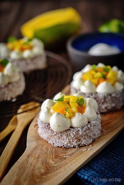Mangotaartje met kokos