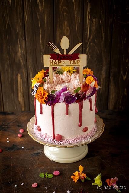 Drip verjaardagstaart met kokos