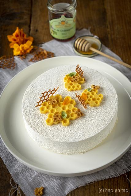 Entremets met vanille en kastanjehoning