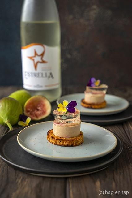 Foie gras met gelei van zoete wijn en vijg